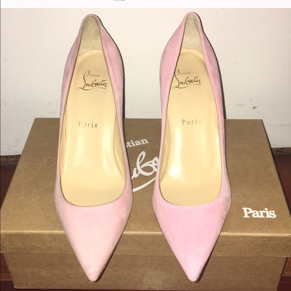 watch 825e4 20c71 Pink Suede Christian Louboutin Pumps NWT
